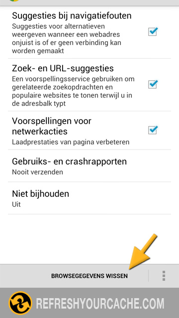 Chrome Stap 4 (android)