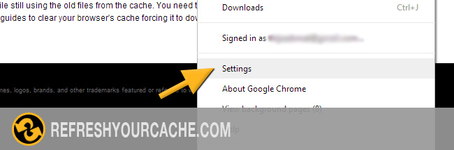 how to clear cache on chrome on imac