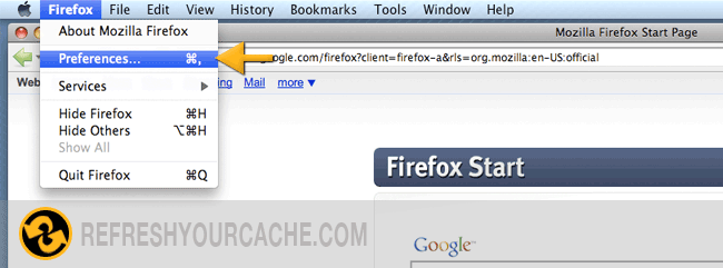 Firefox 2 Step 1 (Mac)